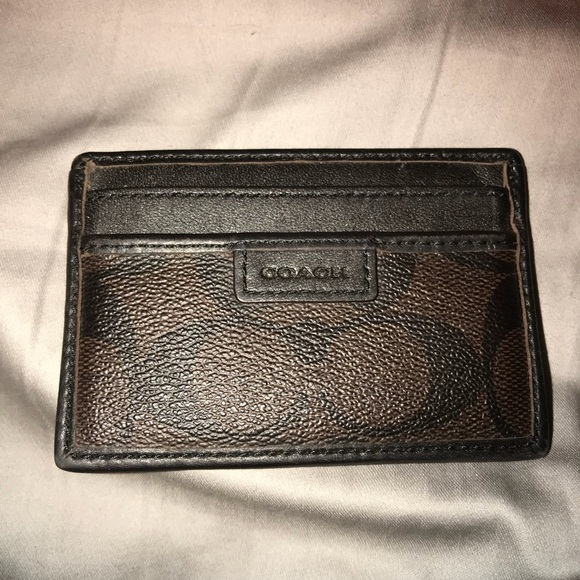 1018041a13ee2 Coach Other - Coach Men s Card Holder Wallet Monogram